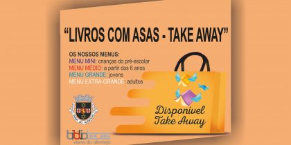 """""""Livros com asas – take away"""""""