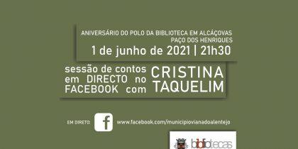 Sessão de Contos em Direto no Facebook com Cristina Taquelim