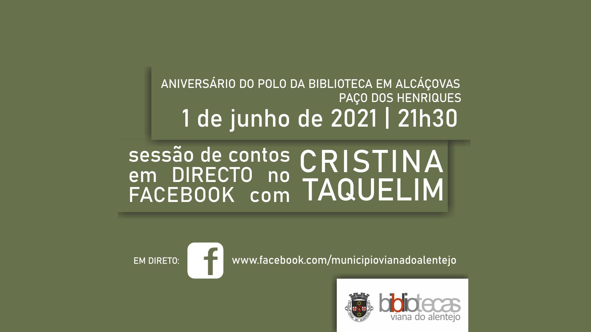 Sessão de contos com Cristina Taquelim em Alcáçovas