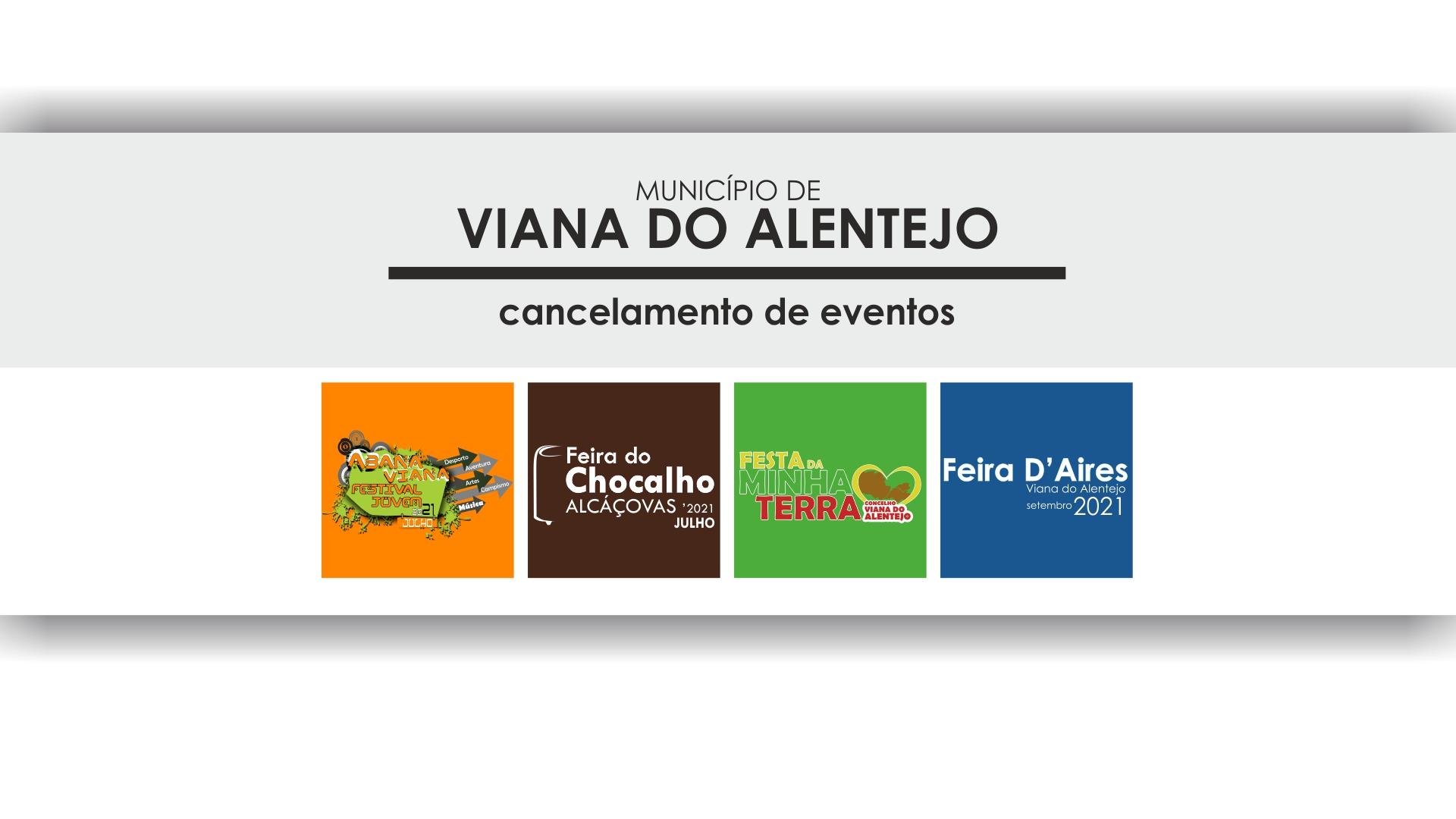 Município de Viana cancela eventos