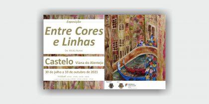 """Exposição """"Entre Cores e Linhas"""""""